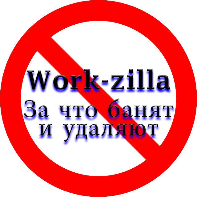 За что может забанить и удалить аккаунт Work-zilla.com